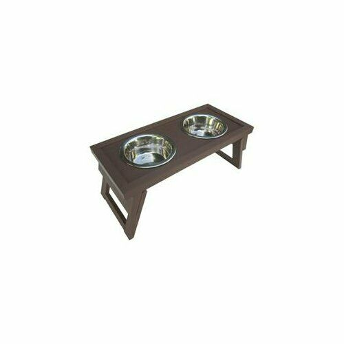 New Age Pet EHHF203L Lrg Raised Double Diner Russet