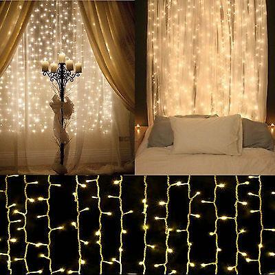 3M x 3M 6M x 3M 300 LED Curtain Fairy Lights SAA String Christmas Party 240V