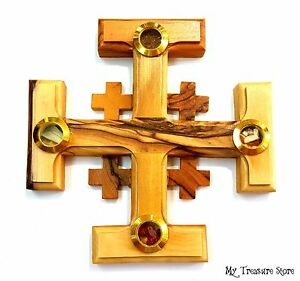 Image Is Loading Olive Wood Jerusalem Cross Wall Hanging Religious Home