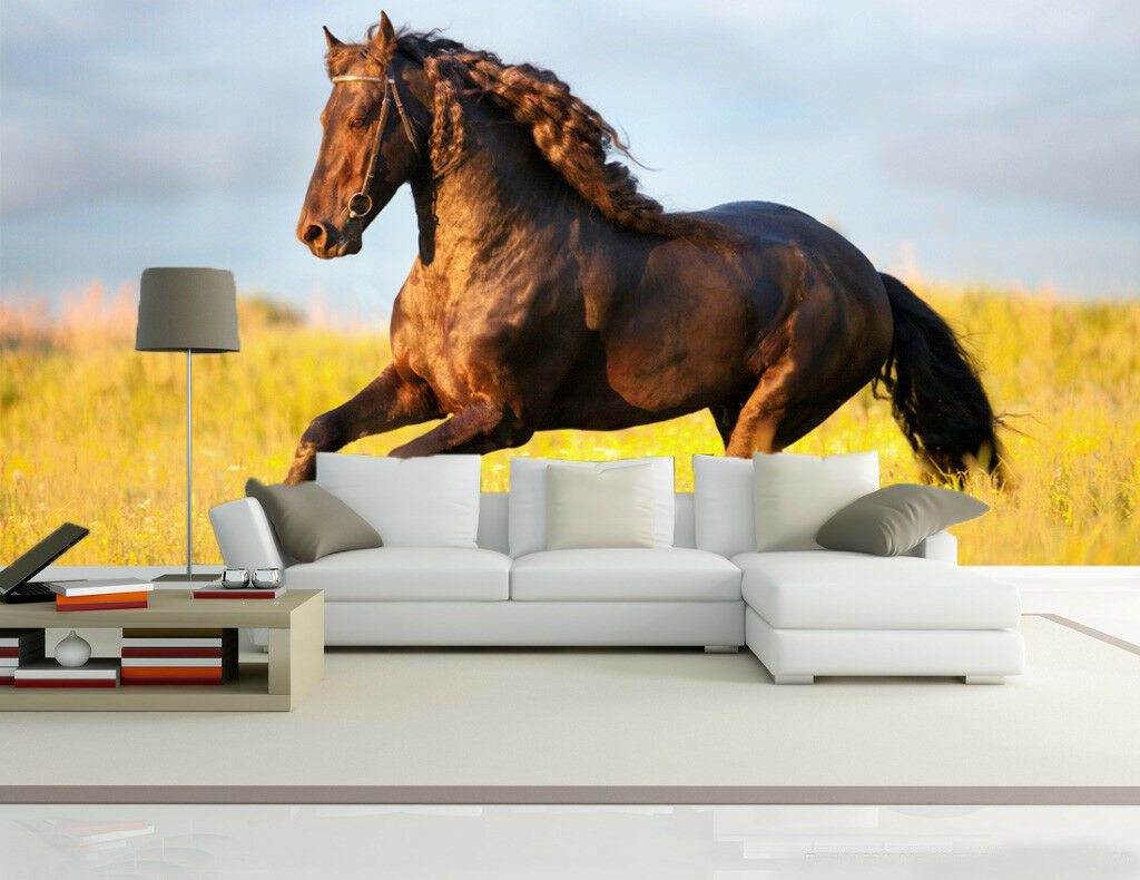 3D Stattliches Pferd 75 Tapete Wandgemälde Tapete Tapeten Bild Familie DE Summer