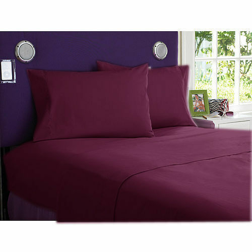 900 TC EGYPTIAN COTTON BEDDING COLLECTION 3 PCS FITTED SHEET WINE COLOR
