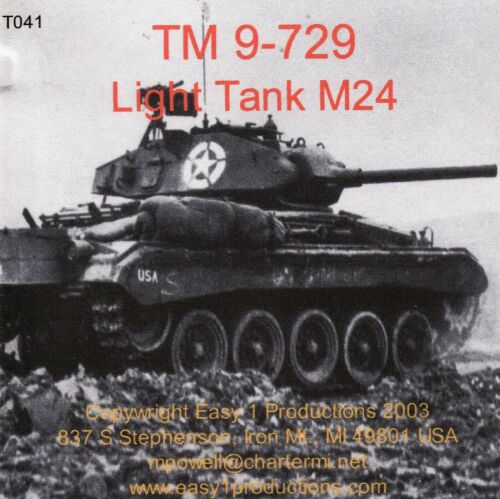 T041 TM 9-729 M24 Chaffee Easy 1 Productions