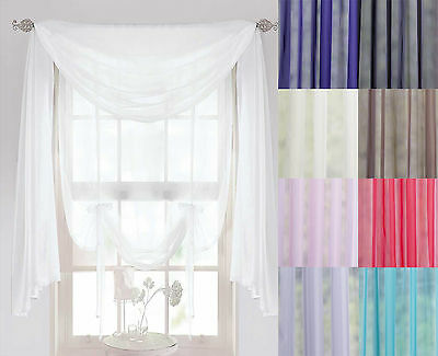 5m Length Sashes Net Curtains Swags