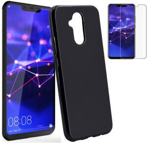 Huawei-Mate-20-Lite-Silicone-Case-Dark-Case-Cover-9H-Curb-Foil-Glass