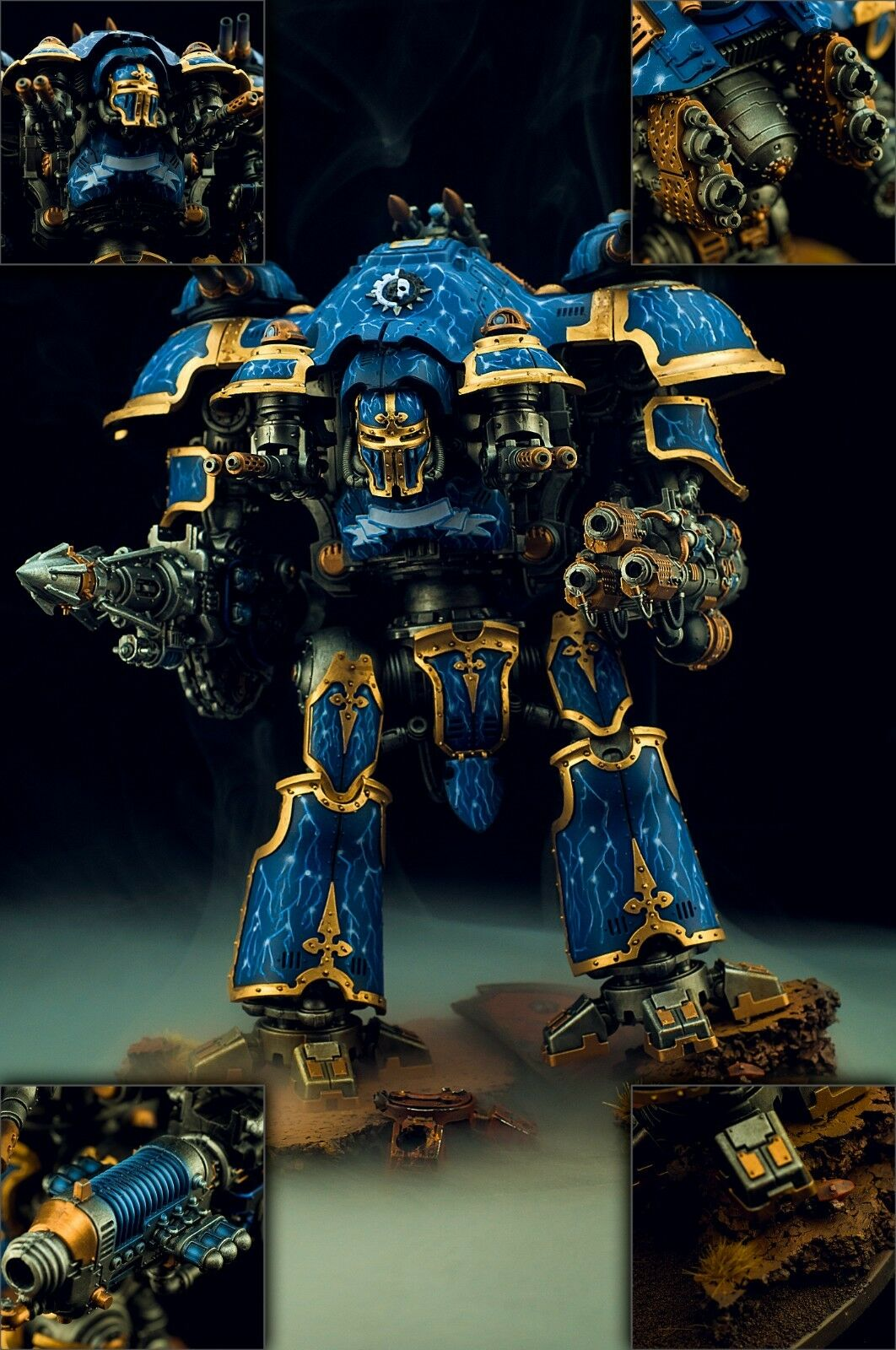 Imperial Knight Castellan \ Valiant Fully Magnetized  - Painted Commission wh40k