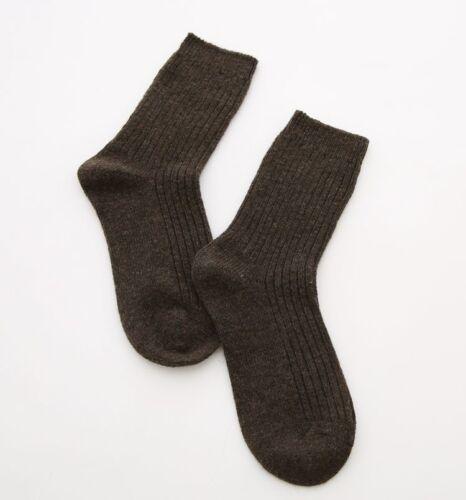 5 Pairs Womens PURE 95/%Merino Wool Comfort Warm Dress Soft Solid Winter Socks