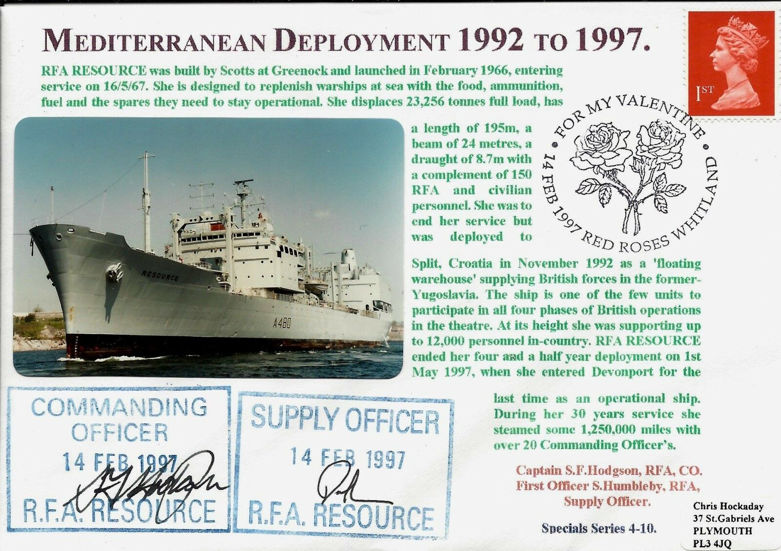 Gb FDC Bleu Marine Signé Couleur Couleur Couleur Photo Série 4 Deployments Jours Flotte 1b0c3a