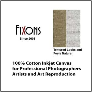 "Cotton Canvas Matte for Epson Printers 17"" x 40' - 2 Rolls"