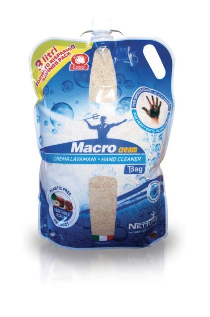 NETTUNO:T-BAG de 3000ml-Lavamanos MacroCream x Suciedad Grasa y Seca-cod.00790