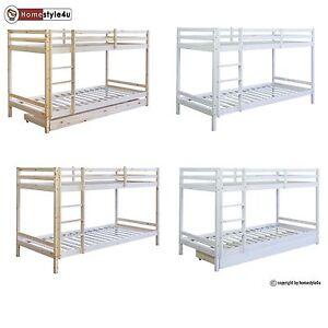 etagenbett kinderbett jugendbett doppelstockbett hochbett spielbett bettkasten ebay. Black Bedroom Furniture Sets. Home Design Ideas