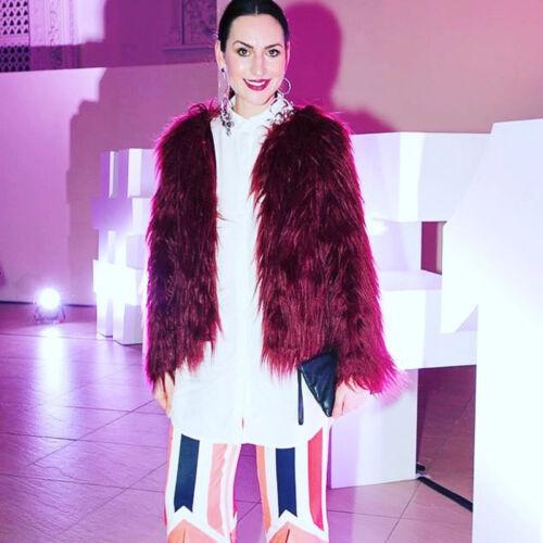Damen Fleecejacke Kunstfell Winterjacke Mantel Pelz Jacke Strickjacke Outwear