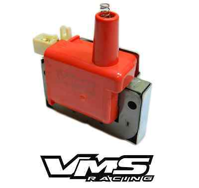 RED VMS RACING 10MM HIGH PERFORMANCE IGNITION EXTERNAL COIL WIRE HONDA ACURA