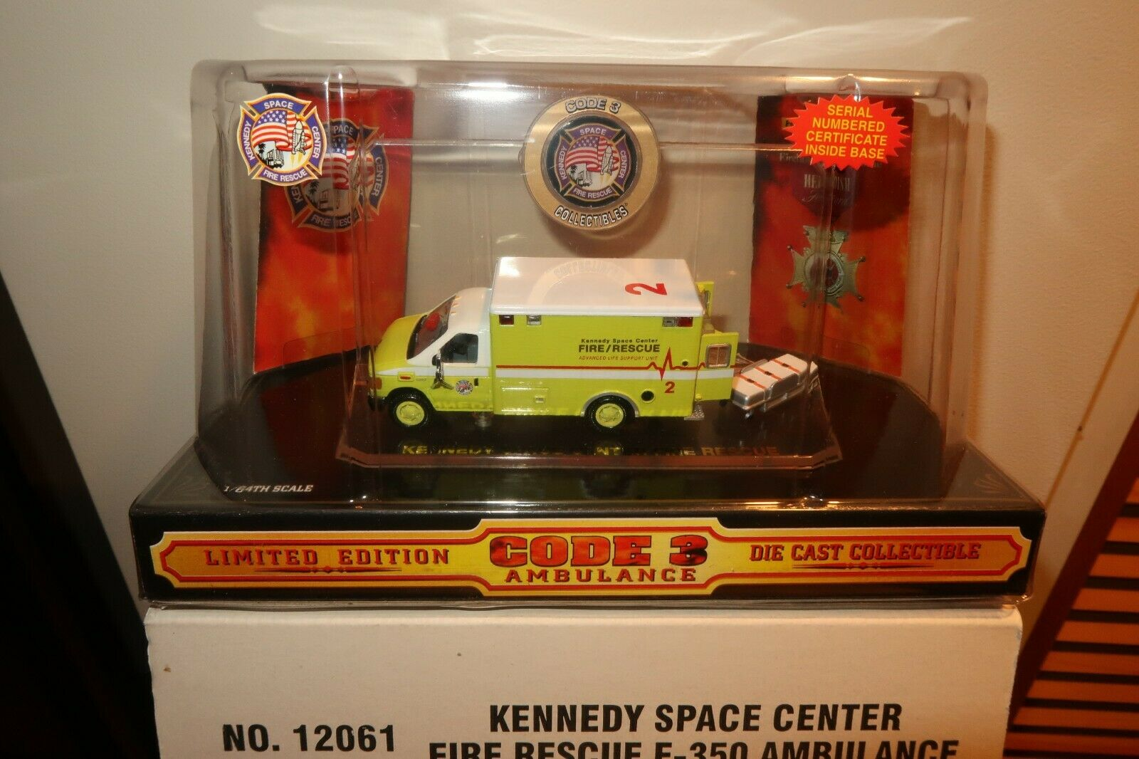 Code 3 Collectibles Die Cast Kennedy Space Center Ambulance Mint in Box w Sleeve