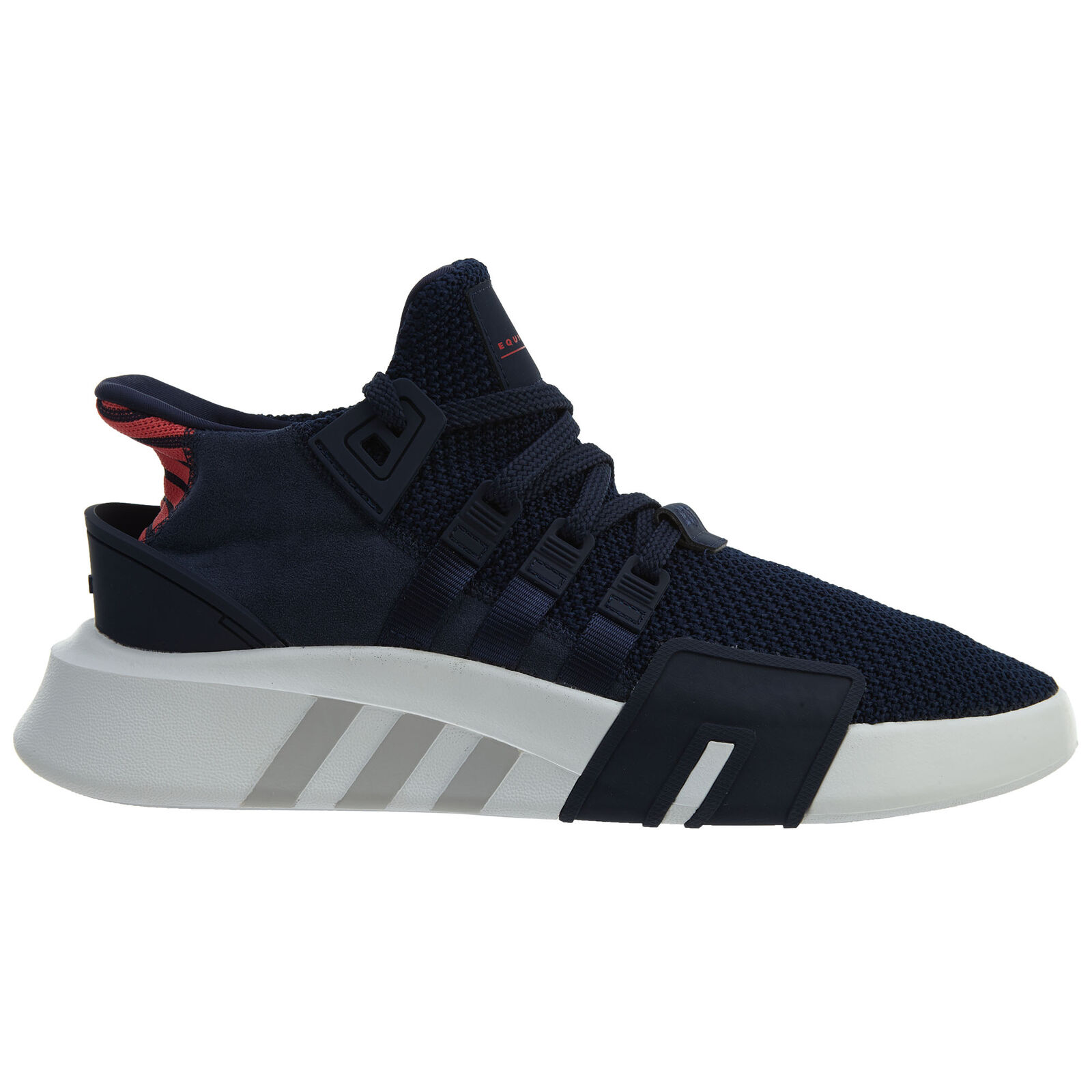 Adidas EQT Bask ADV Mens CQ2996 Navy Coral Knit Suede Athletic Shoes Comfortable