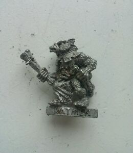 Classic-Skaven-Clanrat-with-club-x-1-metal-model-unpainted-Scarce-AOS-Rare-OOP