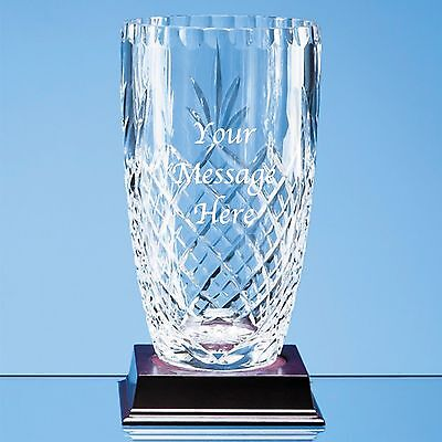 Any Message Any Occasion Personalised Engraved Crystal Glass Bud Vase