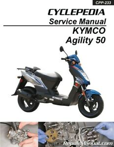 Details about Kymco Agility 50 Scooter Printed Service Manual by Cyclepedia