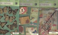 U Choose Assorted K&company Scribe 3d Stickers Butterflies Flowers Ephemera