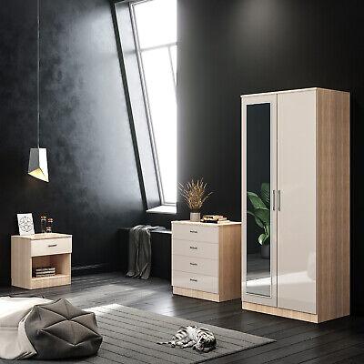 Oak Cream Bedroom Furniture Wardrobe Chest Of Drawer Bedside Cabinet Set Ebay