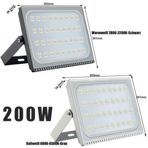 10W 20W 50W 100W 500W LED Fluter UltraDünn Flutlicht Strahler Außen Scheinwerfer