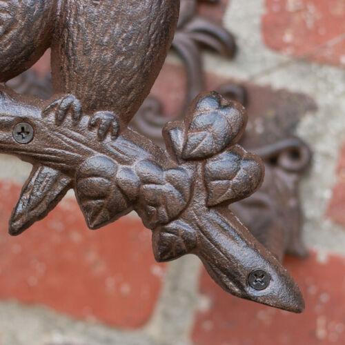 Schlauchhalter aus Eisen Antik Landhausstil Gartenschlauchhalter mit Vögel
