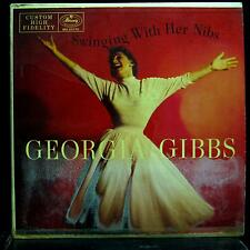 GEORGIA GIBBS swingin' with her nibs LP VG+ MG 20170 MONO Vinyl Record