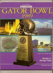 1988 Gator Bowl Game Program Georgia Michigan State