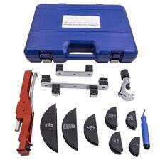 Pipe Bender Hvac Refrigeration Ratchet Tube Bending Heads Cutter Tool Kit