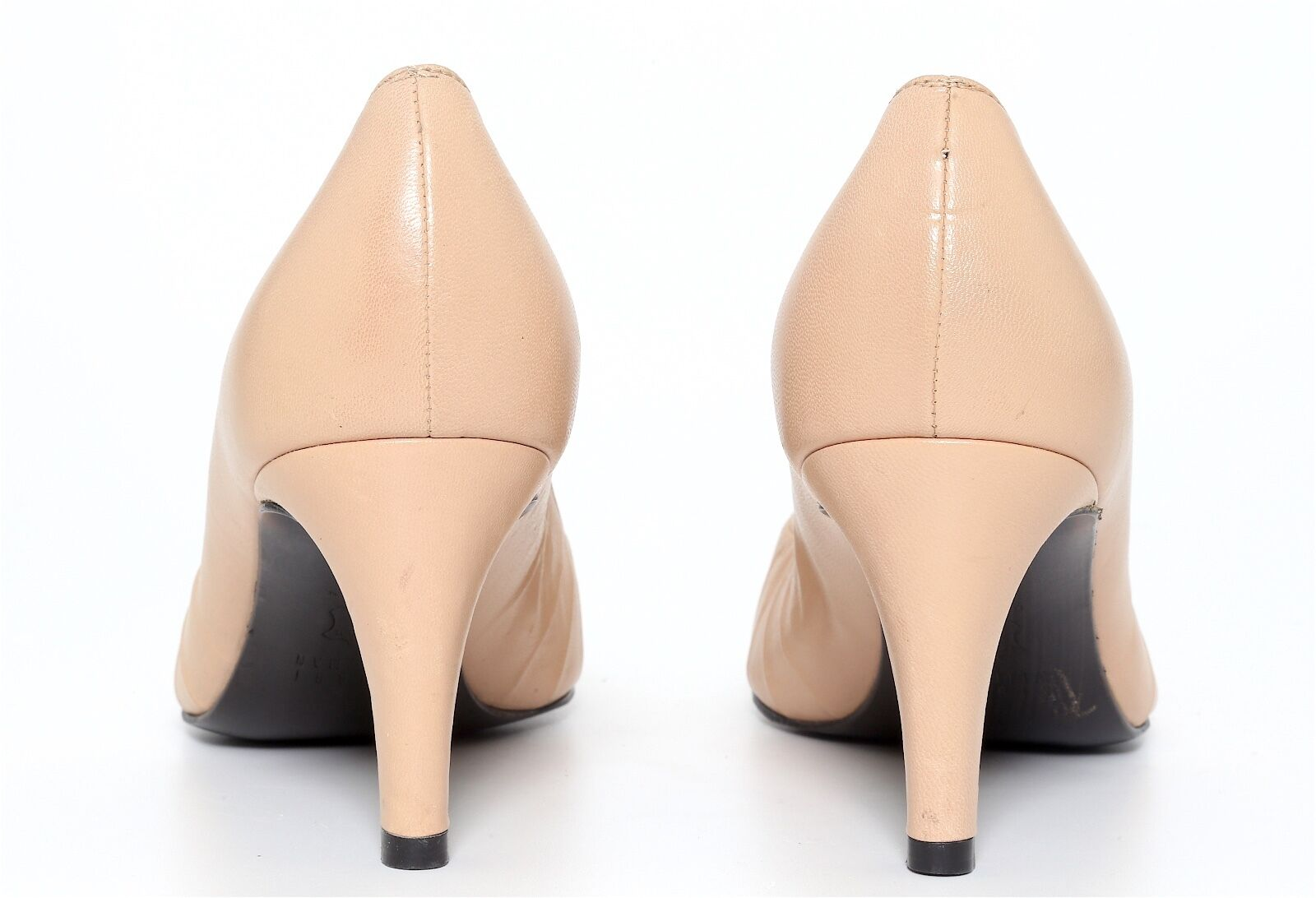 Stuart Weitzman Women's Leather Leather Leather Beige Pointed Toe Heels 3490 Sz 5 M 3d4a25