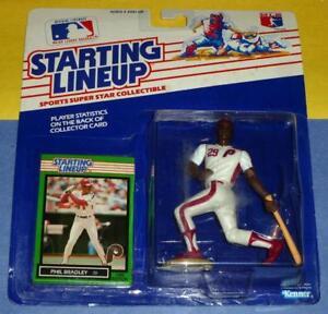 1989 PHIL BRADLEY Philadelphia Phillies Rookie * FREE s/h * sole Starting Lineup