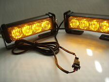 12 volt AMBER RECOVERY STROBE LED LIGHTS ORANGE REAR SHELF MOUNT FLASHING BEACON