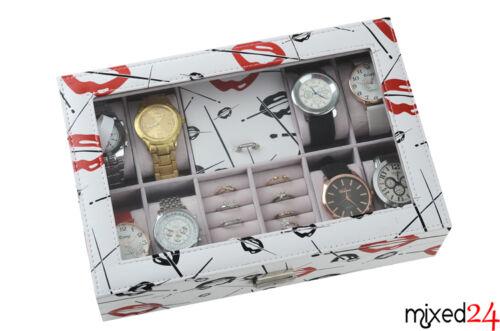 Schmucklade 8er Uhrenlade Ringlade Schmuckkasten Uhrendisplay Ringdisplay Uhren