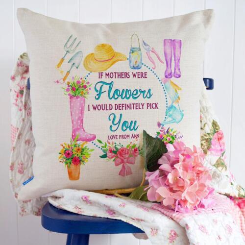 Maman Housse de coussin personnalisé mère Noël oreiller Fleur Cadeau Love KC29