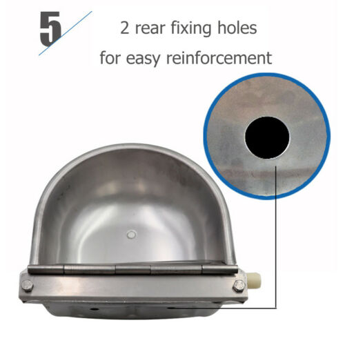 Automatic Stainless Steel Farm Water Bowl Float Valve Drinking Stock Horse Sheep