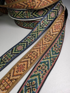 """1 1//8/"""" Native weave jacquard fabric trim Sold by the Yard"""