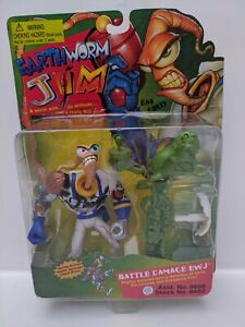 Earthworm-Jim-1995-Battle-Damage-EWJ-8602-See-Pictures-amp-Marks-on-Toy-Sealed