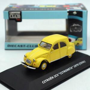 IXO-Citroen-2CV-Citroneta-1970-Chile-modelos-diecast-Juguetes-Amarillo-1-43-Coleccion