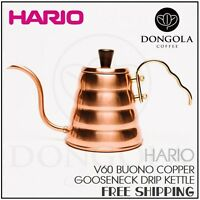 Hario Buono Copper Drip Kettle Gooseneck Stainless Steel 900ml Pour Over Coffee