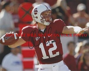 ANDREW LUCK AUTOGRAPHED 8x10 RP PHOTO CARDINALS - HEISMAN DRAFT # 1 QB