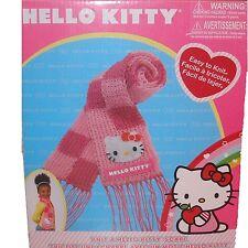 Rare Sanrio Knit a Hello Kitty Yarn Scarf Handmade Craft Kit Girls New in Box
