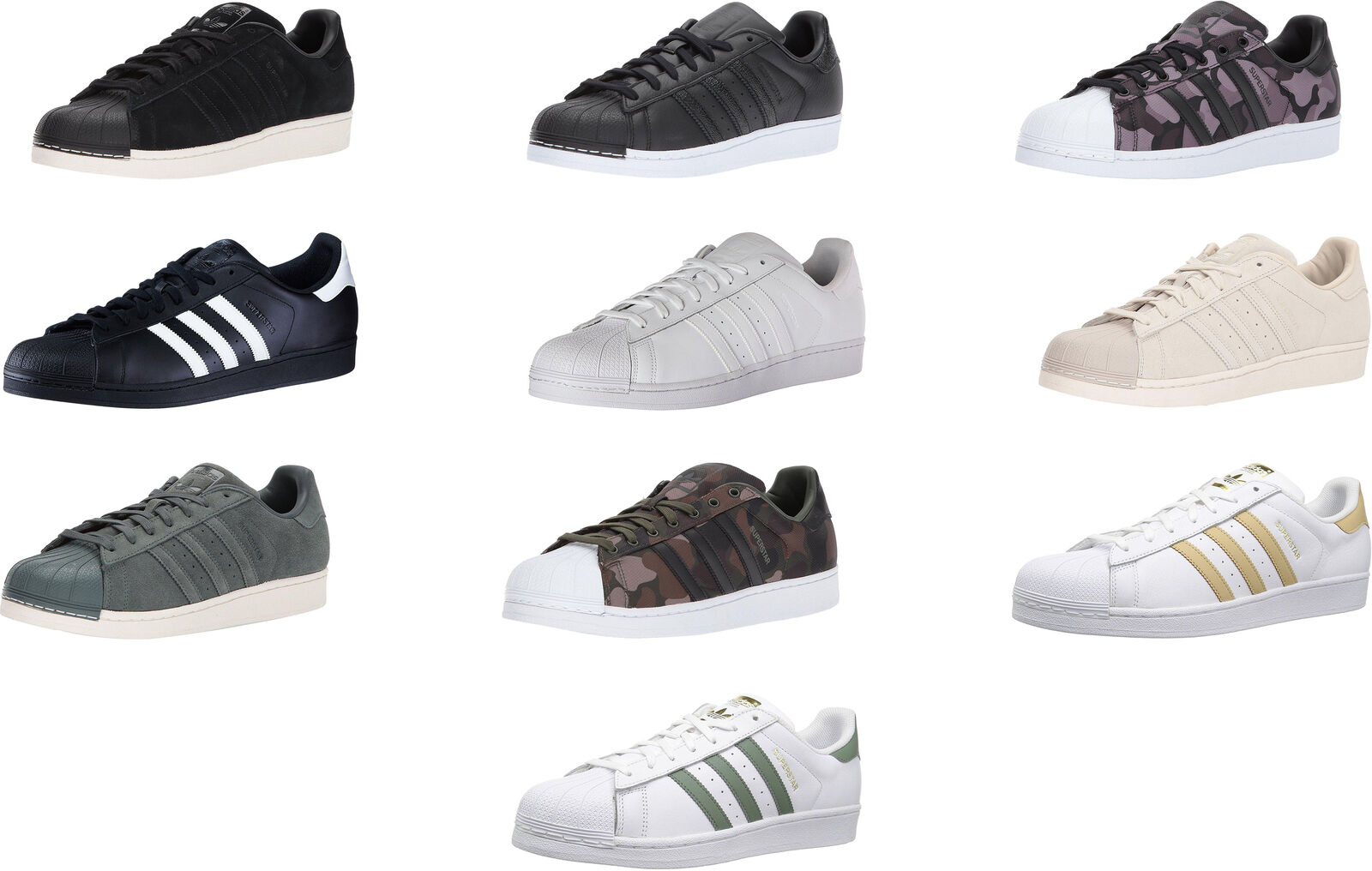 Adidas Originals Men's Superstar Foundation Casual Sneakers, 12 colors