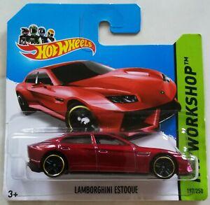 Red LAMBORGHINI ESTOQUE New In Packet Hot Wheels 2014 HW Workshop #197//250
