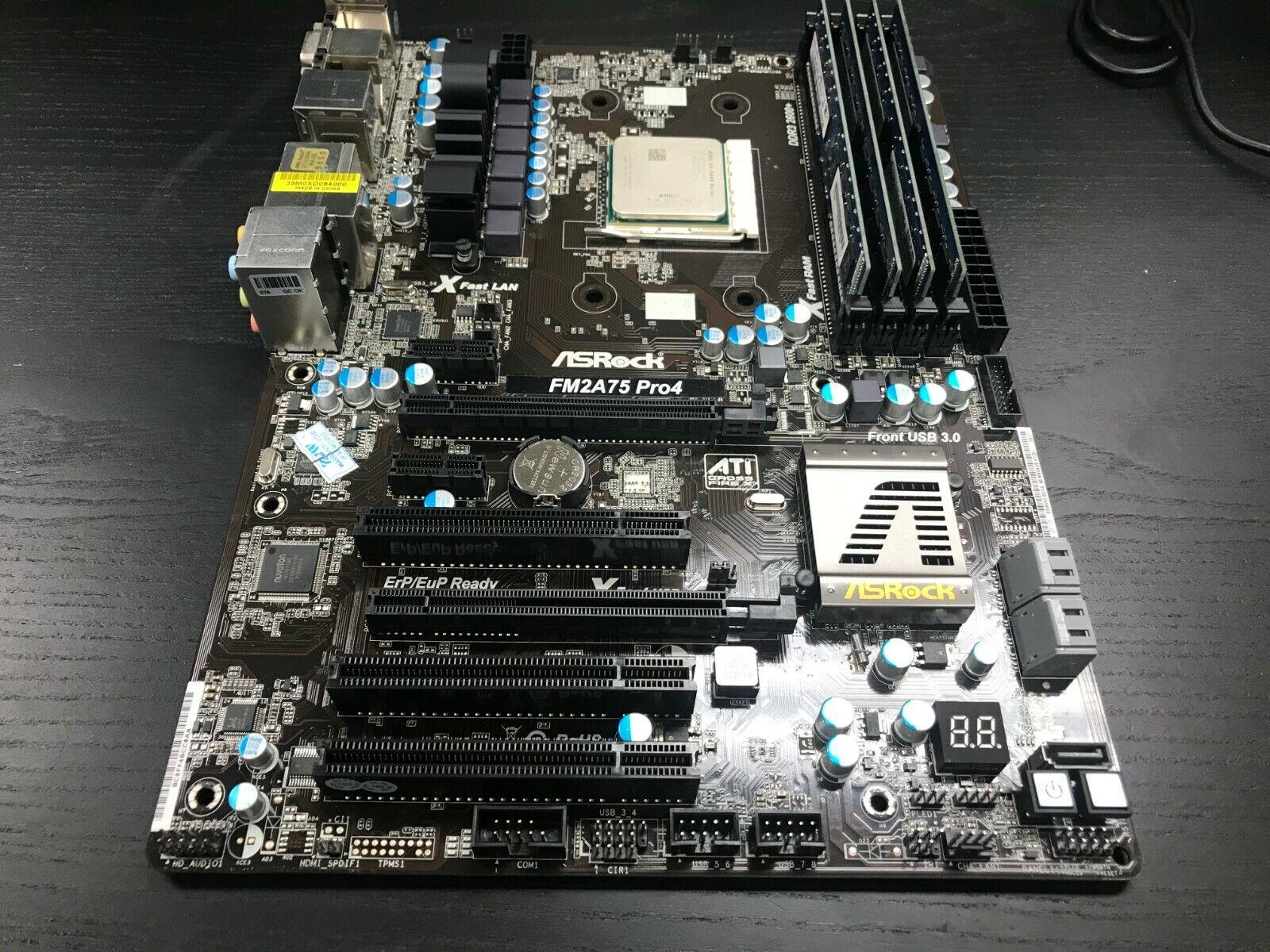 A8-5600K CPU 8GB G.Skill RAM ASRock AMD ATX Gaming Motherboard I//O Plate