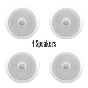 Quantity-4-Pyle-PDIC60-250-Watt-6-5-039-039-2-Way-In-Ceiling-Speakers