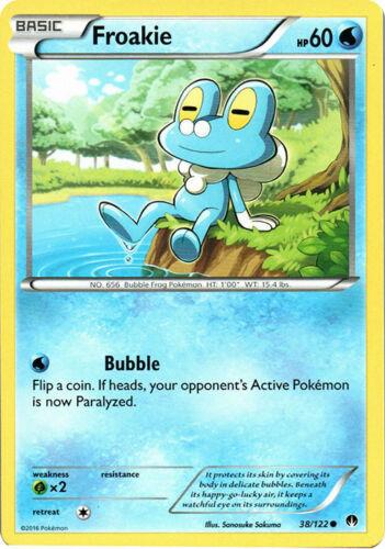 x4 Froakie 38//122 Common Pokemon XY Breakpoint M//NM English