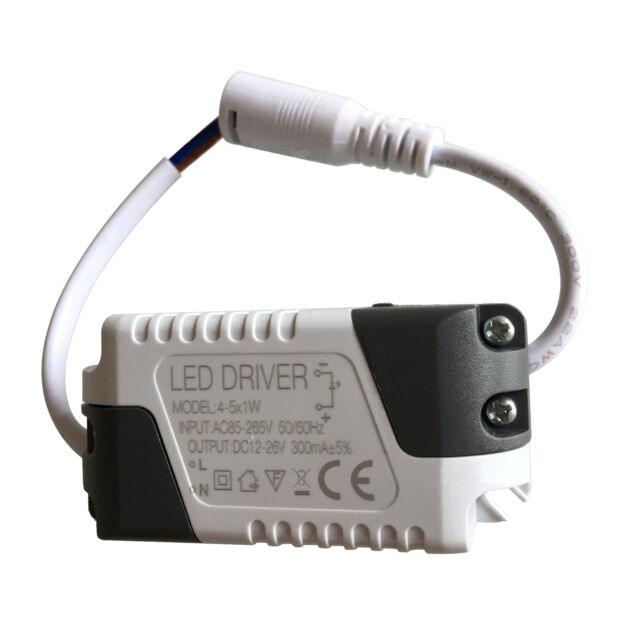 1W-24W LED Driver 300mA Power Supply Transformer Convertor Ceiling Panel Lights