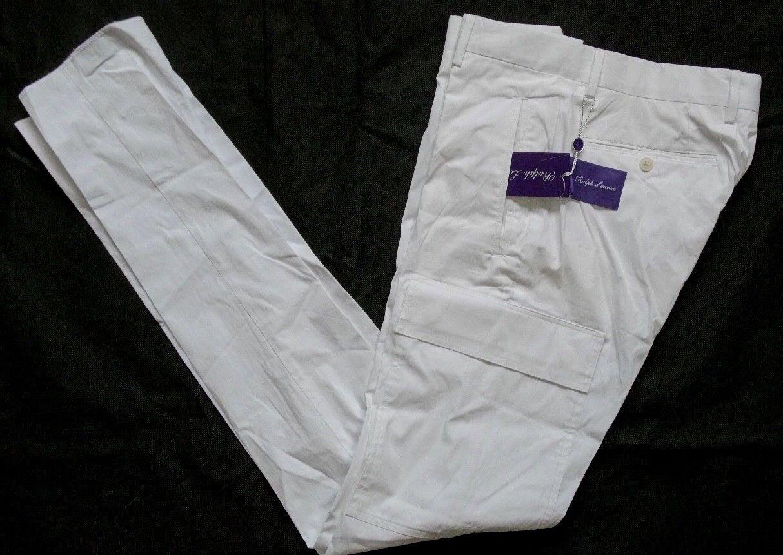 RALPH LAUREN lila LABEL Cargo Pant Gr 34  Weiß