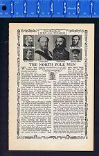 The North Pole Men - Explorers-Smith-Nares-Kane-Jackson-Peary - 1926