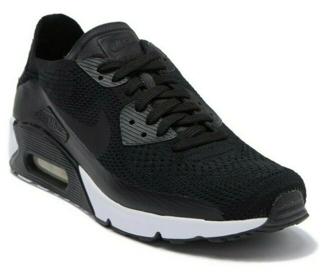 online store 571d2 d3656 Nike Air Max 90 Ultra 2.0 Flyknit Mens Sz 12 Shoes Black White 875943 004