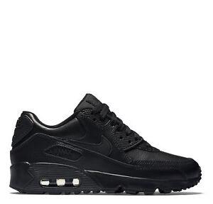 Nike Air Max 90 Leather GS Schuhe Retro Sport Freizeit Sneaker black 833412-001